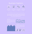business statistics and data vector image vector image