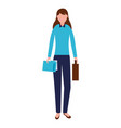 businesswoman character female vector image