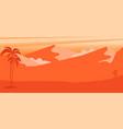 cartoon desert landscape in flat style design vector image