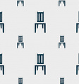 chair icon sign Seamless pattern with geometric vector image vector image