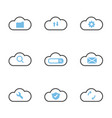 cloud technology system simple flat icons vector image vector image