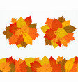 colorful autumn foliage banners design vector image vector image