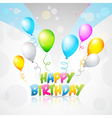 colorful background of birthday vector image vector image