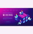 cryptocyrrency mining landing page vector image