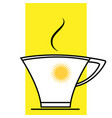 cup with drink sunny morning vector image