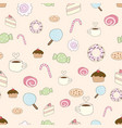 cute colorful pastel cartoon style coffee vector image