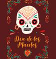 dia de los muertos traditional mexican holiday vector image vector image