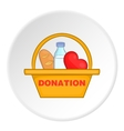 Donation icon flat style vector image vector image