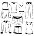 doodle clothes vector image vector image