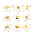 egg character - set of mascot vector image vector image