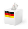 election in germany ballot box with voicing paper vector image vector image