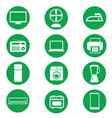 electronics icon on green vector image vector image