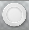 empty white plate food clean ceramic porcelain vector image