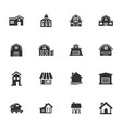 farm building icons set vector image vector image