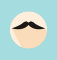 flat long shadow hipster retro style mustache vector image vector image