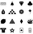 gamble icon set vector image vector image