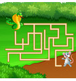 game snake maze find way to the mouse vector image vector image