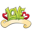 Graffiti with Love vector image vector image