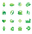 green icon and symbol design vector image vector image