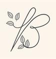 handwritten letter b monogram or logo brand vector image