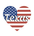 heart shaped national flag the united states of vector image vector image