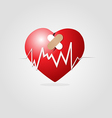 Heart with plaster and Graph vector image