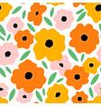 it feels like summer beautiful bright flowers vector image