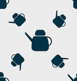 Kettle Icon sign Seamless pattern with geometric vector image vector image
