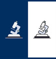 lab microscope science zoom icons flat and line vector image vector image