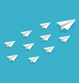 leadership airplane paper plane origami vector image