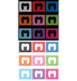 letter m formed with the help of mediators vector image