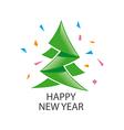 logo abstract green Christmas tree