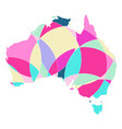 map of australia the abstract pattern vector image vector image