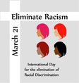 March 21 eliminate racism day vector image vector image