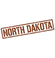 north dakota brown square stamp vector image vector image