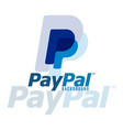 paypal logo background image vector image vector image