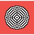 Pixel art target vector image vector image