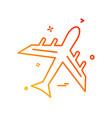 plane icon design vector image vector image