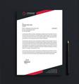 professional corporate letterhead template design vector image vector image