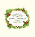 realistic christmas coniferous wreath template vector image vector image