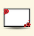 rectangle frame with rose for photo frame vector image
