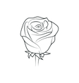 rose flower simple black lined icon on white vector image vector image