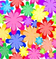 Seamless abstract texture of flowers vector image vector image