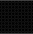 seamless pattern with grey polka dots on black vector image vector image
