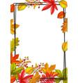 seasonal fall round banner vector image vector image