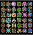 set jewelry vintage pendants ornament made of vector image vector image