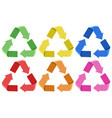 set of colorful recycle icons vector image vector image
