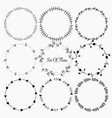 set of flora round frames for decoration vector image