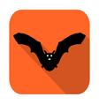 silhouette bat vector image