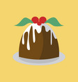 simple pudding cake vector image